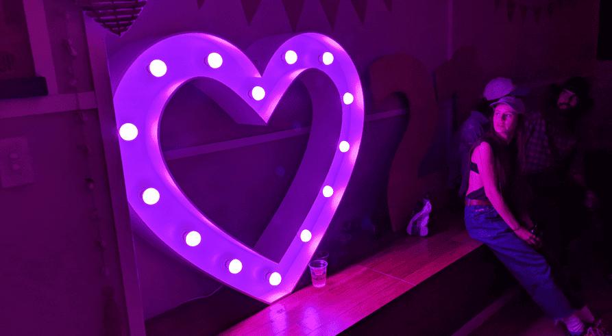 Light Up Heart Purple Sydney-inLight Studios, Sydney, NSW