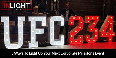 5 Ways To Light Up Your Next Corporate Milestone Event